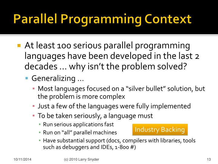 Parallel Programming Context