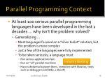 parallel programming context