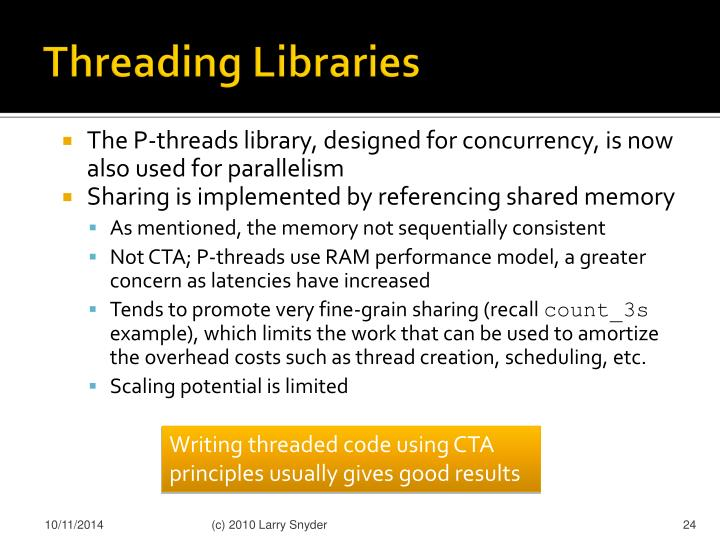 Threading Libraries