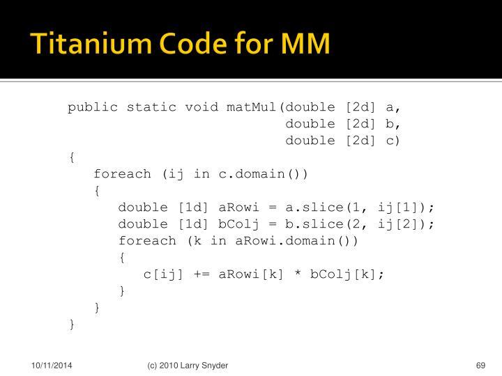 Titanium Code for MM