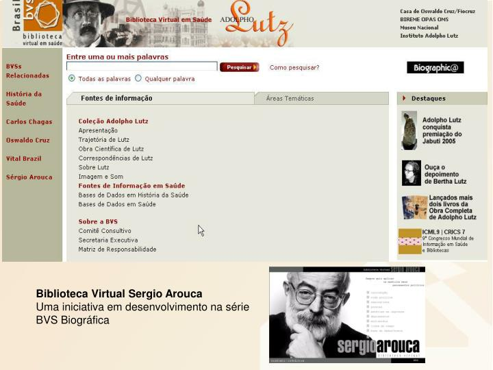 Biblioteca Virtual Sergio Arouca