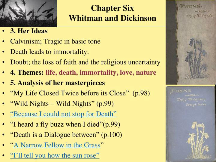 whitman and dickinson relationship