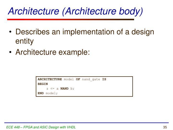Architecture (Architecture body)