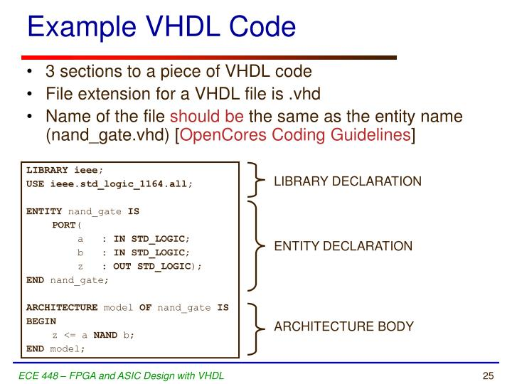 Example VHDL Code