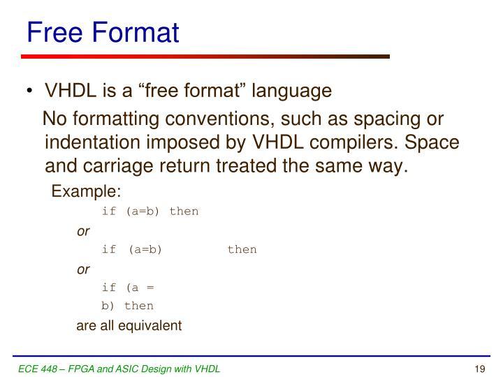 Free Format
