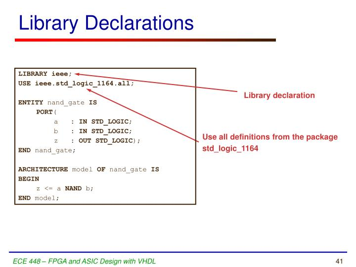 Library Declarations