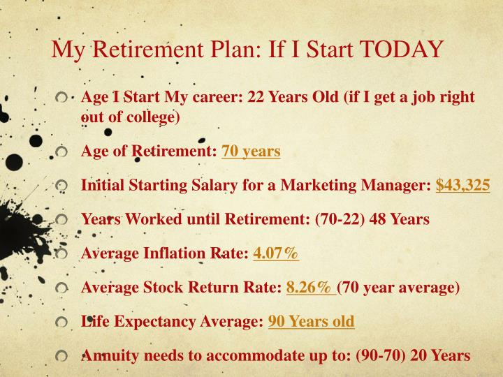 My Retirement Plan: If I Start TODAY