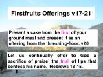 firstfruits offerings v17 21