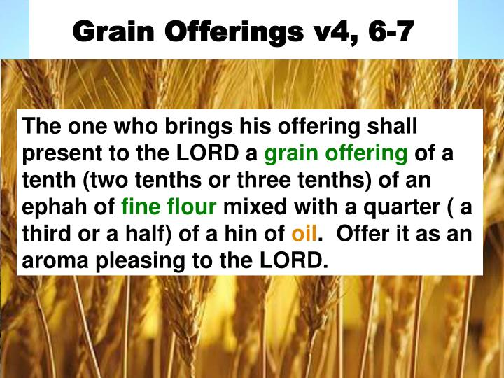 Grain Offerings v4, 6-7