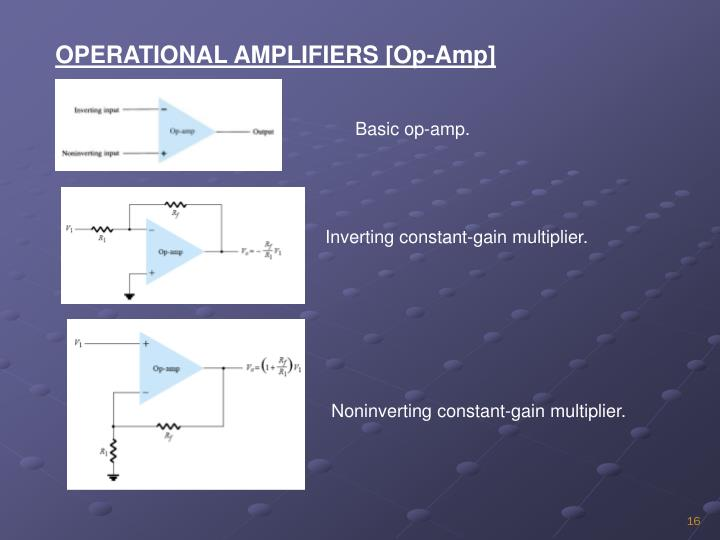 OPERATIONAL AMPLIFIERS [Op-Amp]