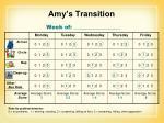 amy s transition