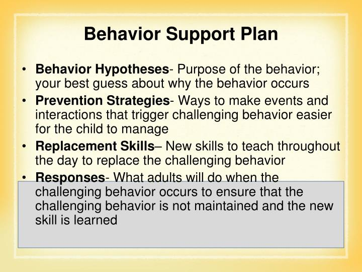 Behavior Hypotheses