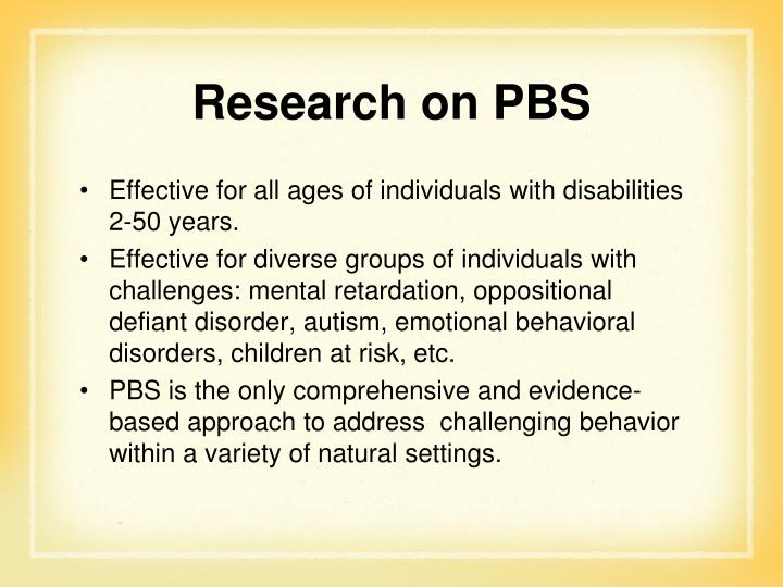 Research on PBS