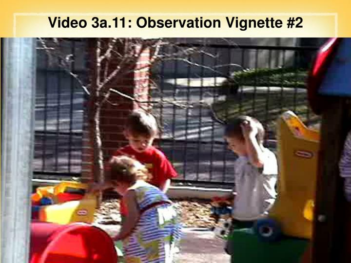 Video 3a.11: Observation Vignette #2