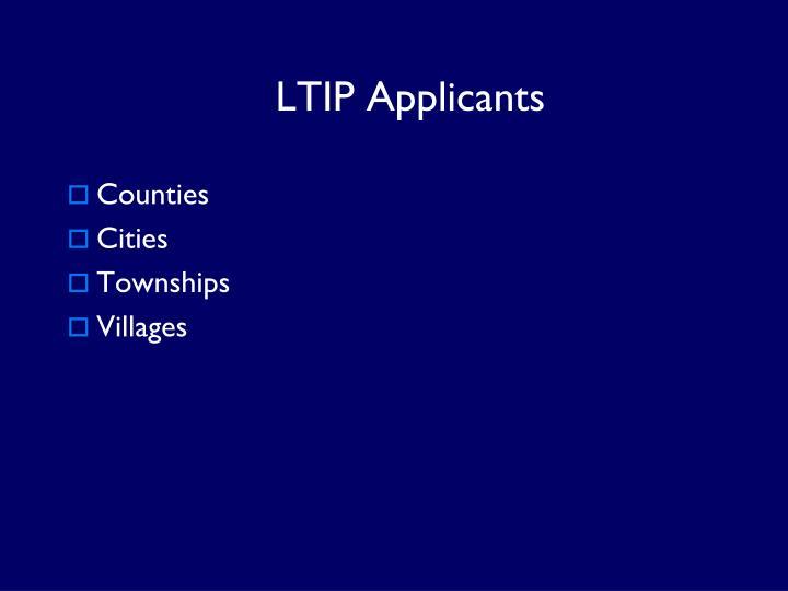 LTIP Applicants