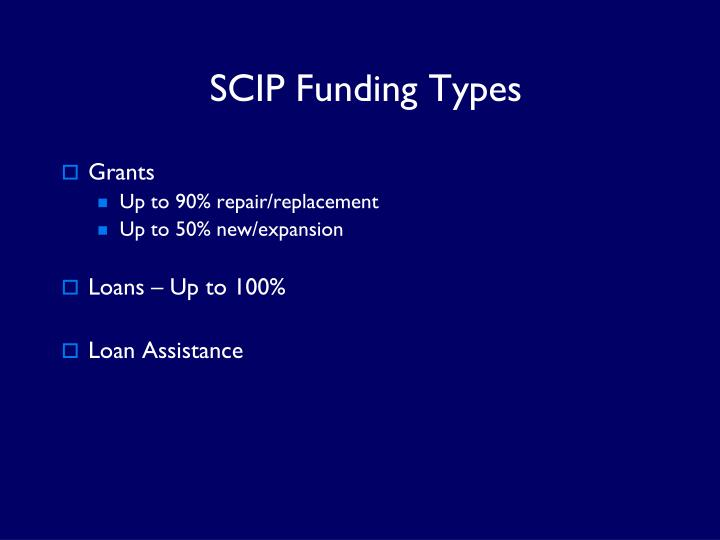 SCIP Funding Types