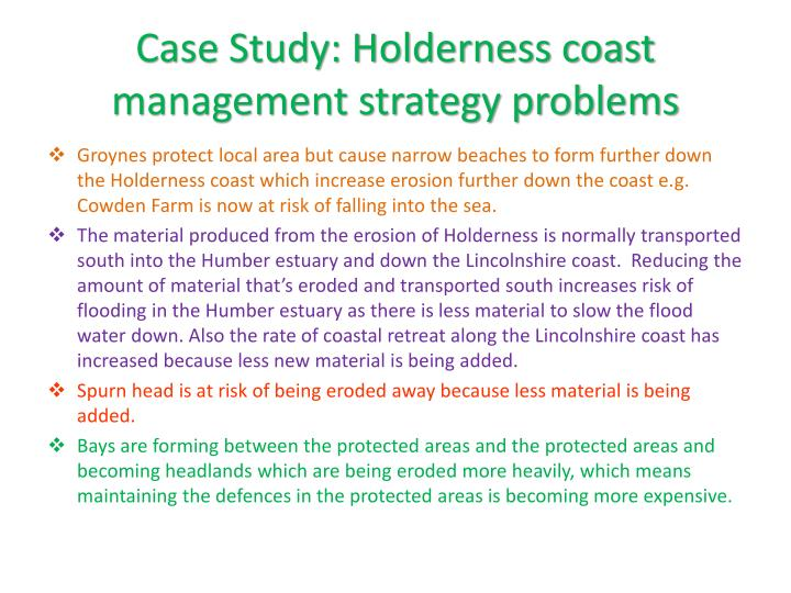 Case Study: Holderness coast management strategy problems