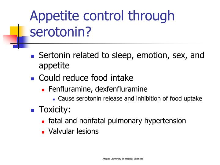 Appetite control through serotonin?