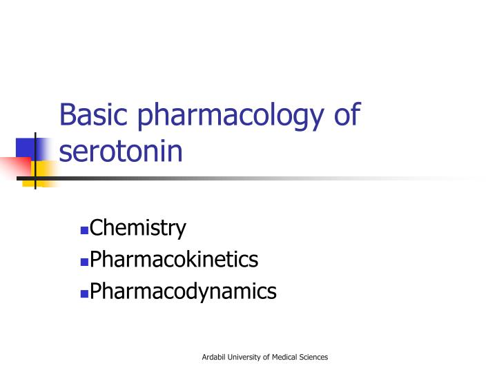 Basic pharmacology of serotonin