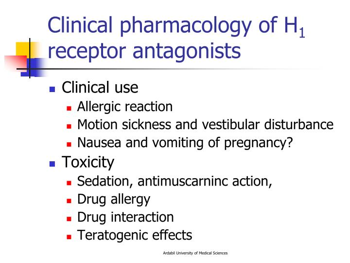 Clinical pharmacology of H