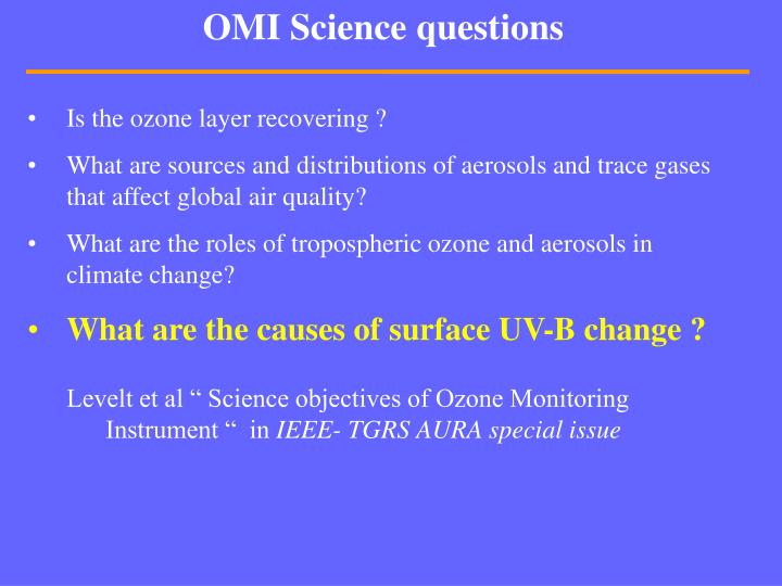 Omi science questions