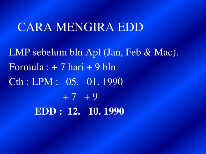 CARA MENGIRA EDD