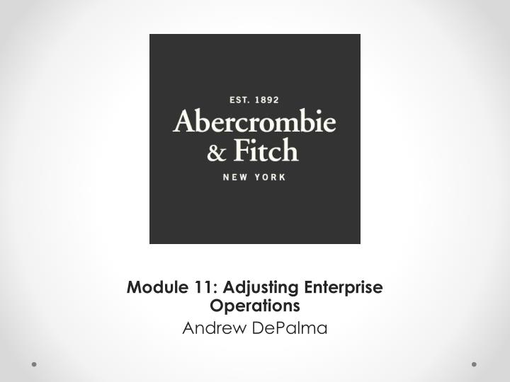 Module 11 adjusting enterprise operations andrew depalma