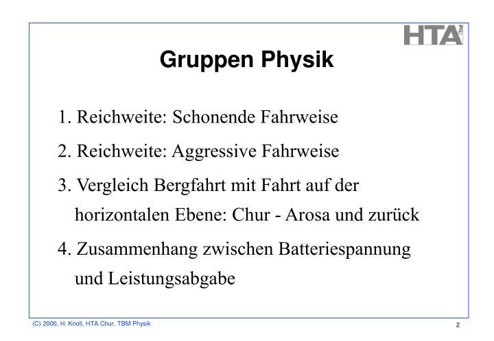Gruppen Physik