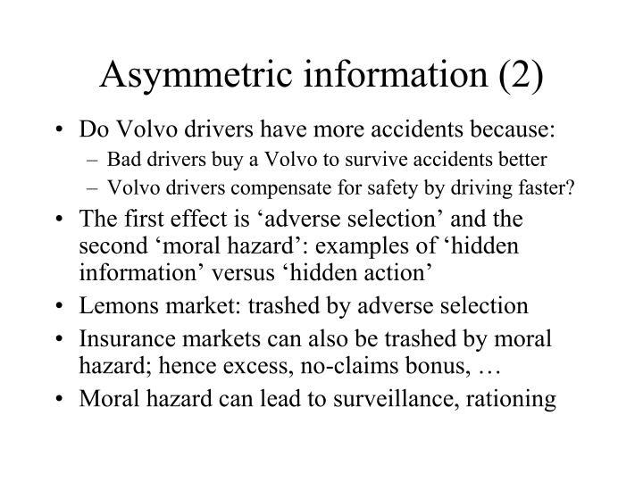 Asymmetric information (2)