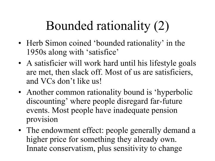 Bounded rationality (2)