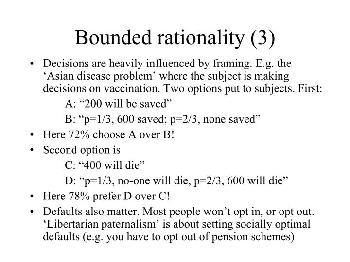 Bounded rationality (3)