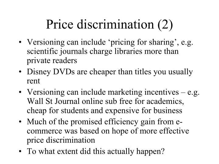 Price discrimination (2)