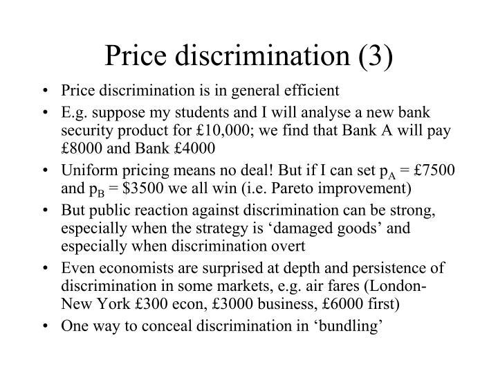 Price discrimination (3)