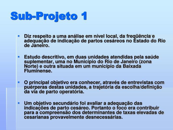 Sub-Projeto 1