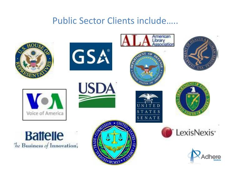 Public Sector Clients include…..