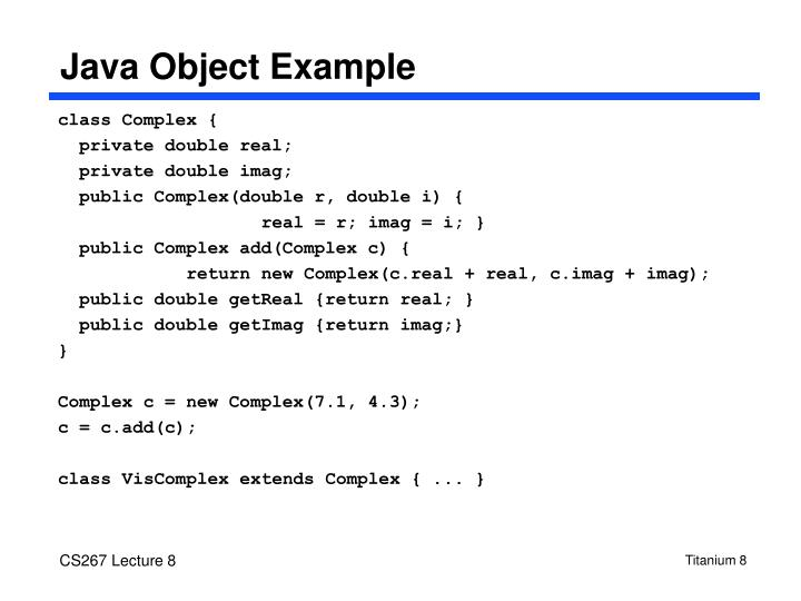 Java Object Example