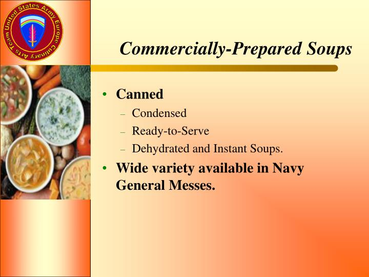 Commercially-Prepared Soups