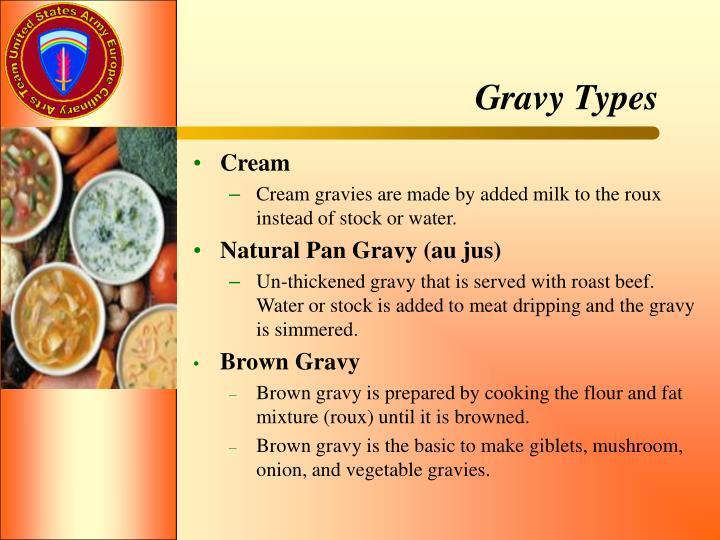 Gravy Types