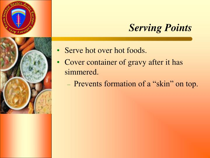 Serving Points
