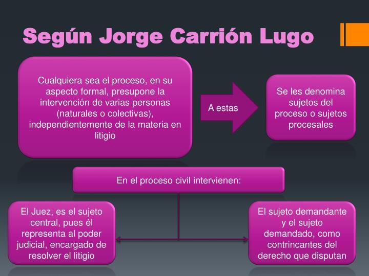 Según Jorge Carrión Lugo