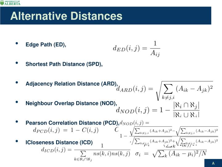 Alternative Distances
