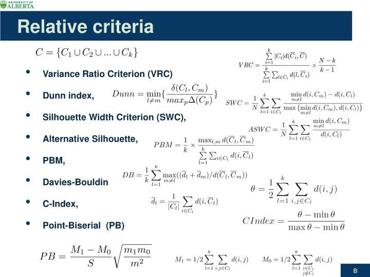 Relative criteria