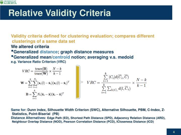 Relative Validity Criteria