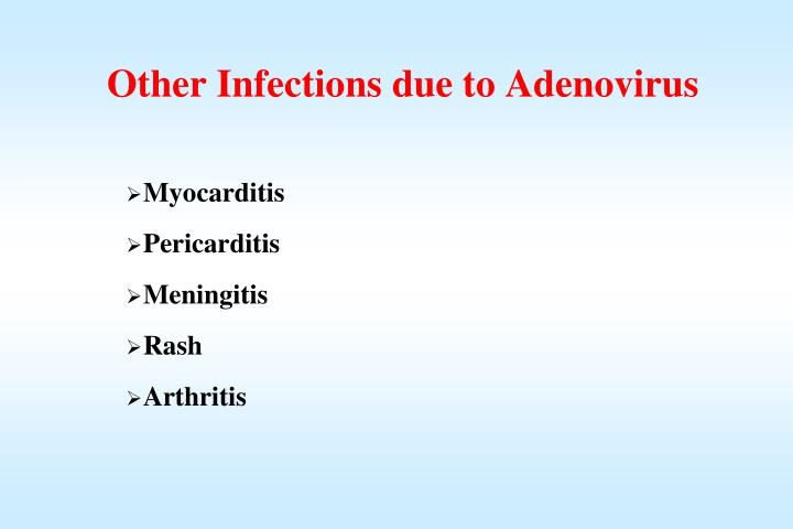 Other Infections due to Adenovirus
