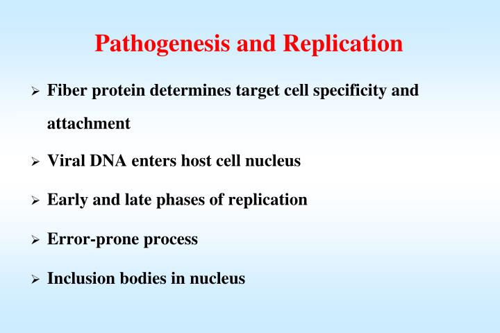 Pathogenesis and Replication
