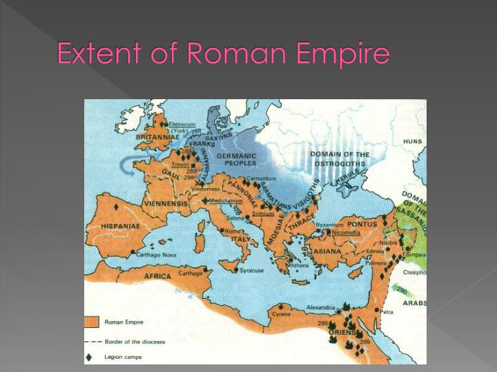Extent of Roman Empire