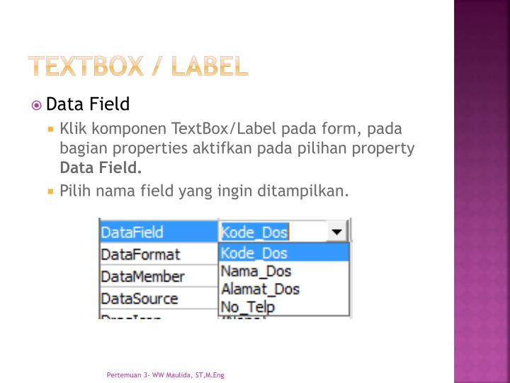 textbox / label