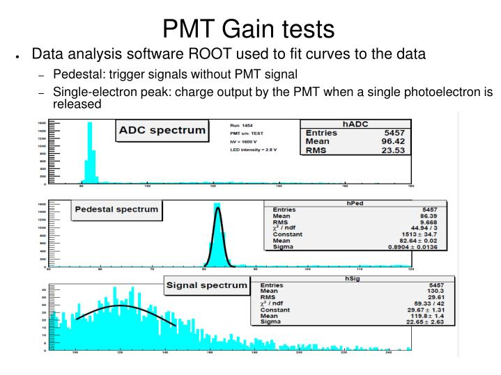 PMT Gain tests