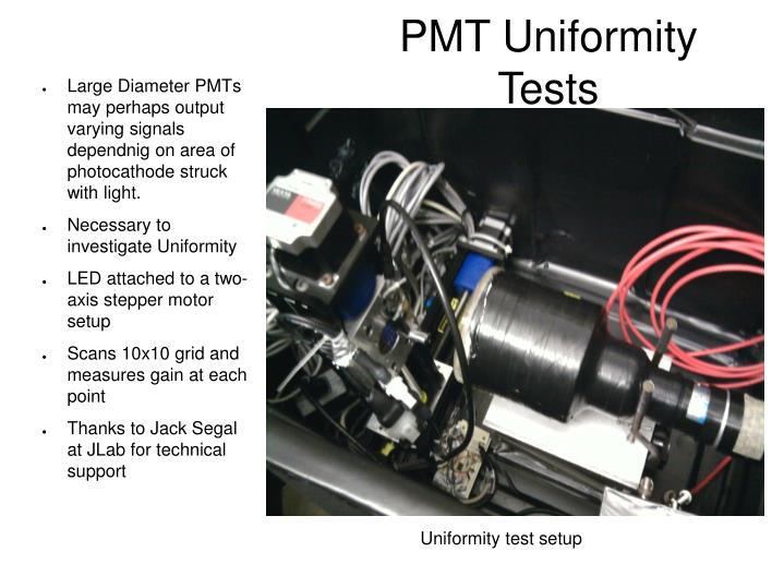 PMT Uniformity Tests