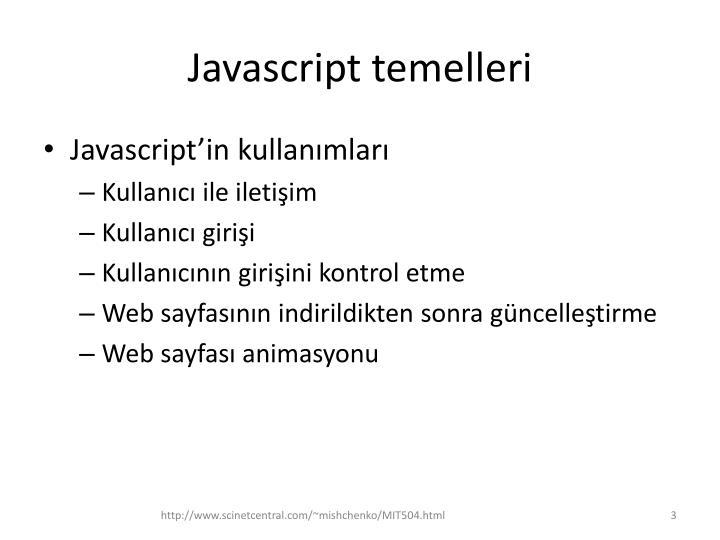 Javascript temelleri